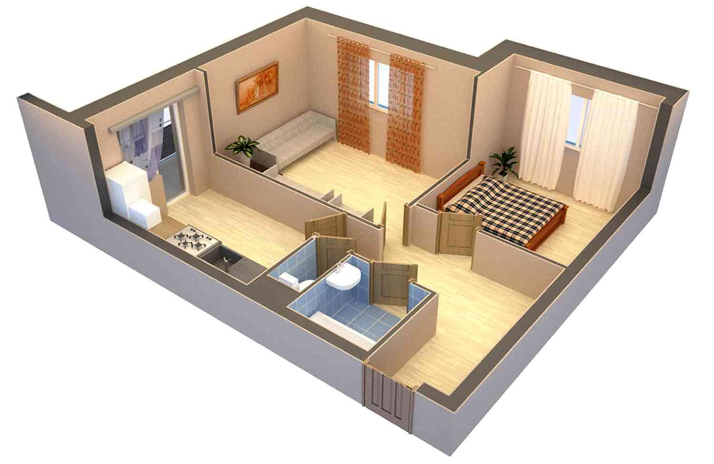 Как сделать из 1 комнатной квартиры 2 фото